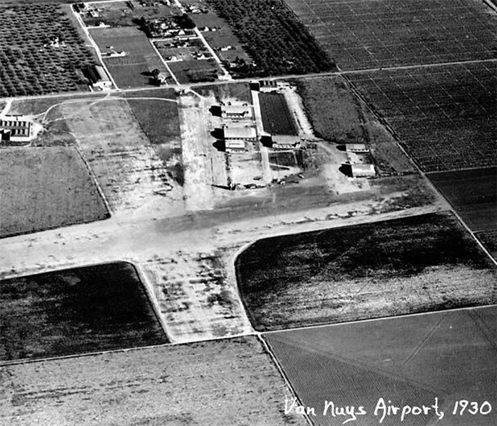 LA Metropolitan Airport, now known as Van Nuys Airport, 1930